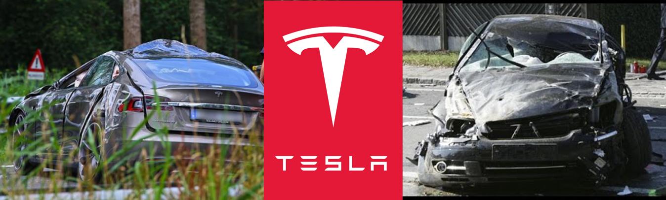 Tesla akıllı araç kaza yaptı. Sürücü öldü