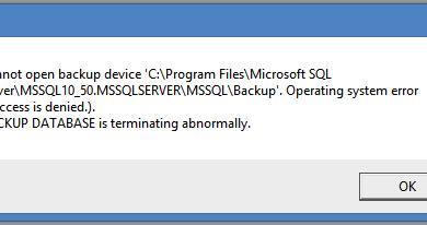 "Photo of SQL Server Operating system error 5: ""5(Access is denied.)"" Hatası ve Çözümü"