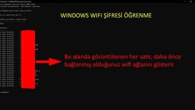Photo of Wifi şifresi öğrenme Windows 10