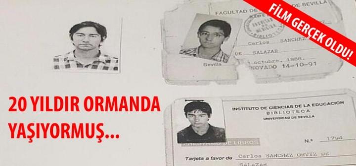 20 yıldır ormanda yaşıyordu.İspanya'da kayboldu. İtalya'da bulundu.