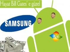 Samsung Microsoft'a her yıl bir milyon dolar ödüyor.