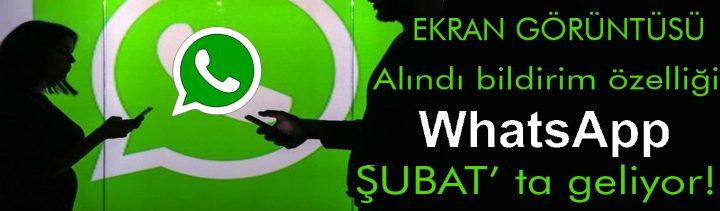 WhatsApp'tan yepyeni özellik: Ekran görüntüsü alındı bildirimi